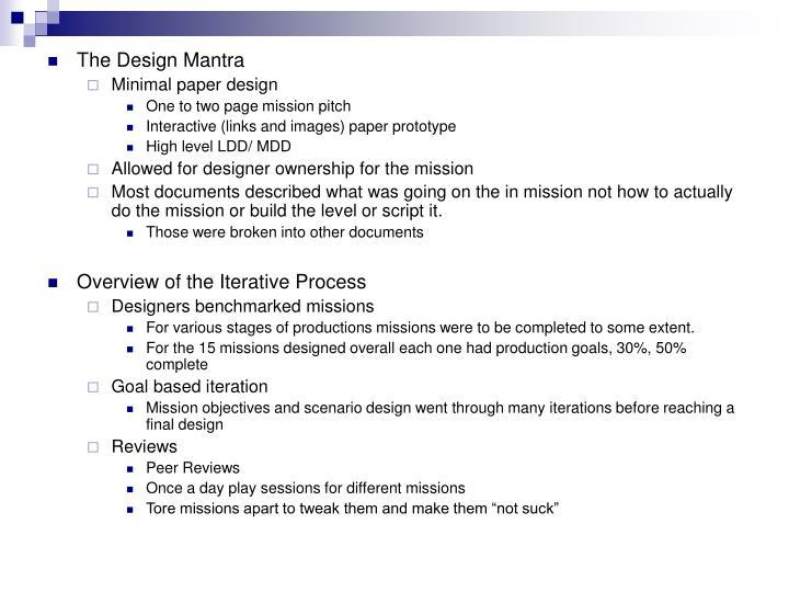 The Design Mantra