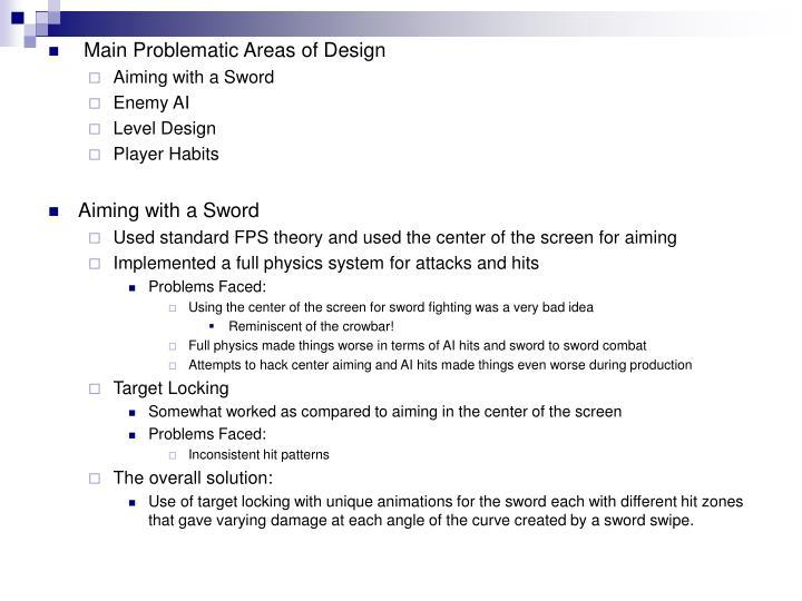 Main Problematic Areas of Design