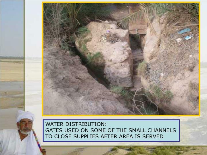 WATER DISTRIBUTION: