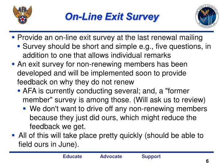 On-Line Exit Survey