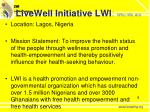 livewell initiative lwi who we are