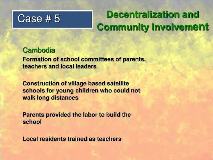 Decentralization and Community Involvem