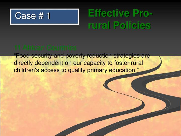 Effective Pro-rural Policies