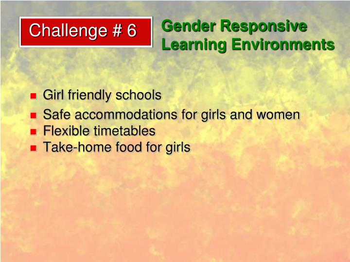 Gender Responsive Learning Environments