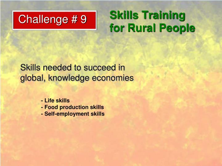 Skills Training for Rural People