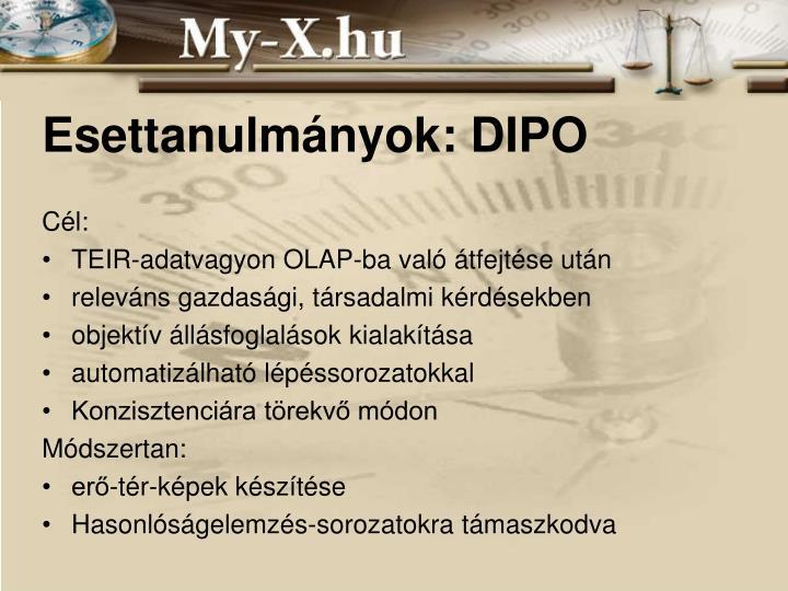 Esettanulmányok: DIPO