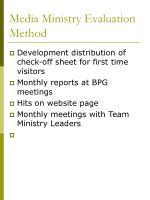 media ministry evaluation method
