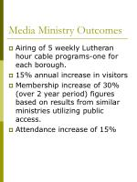 media ministry outcomes