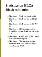 statistics on elca black ministries