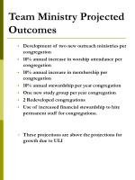 team ministry projected outcomes