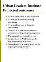urban leaders institute projected outcomes