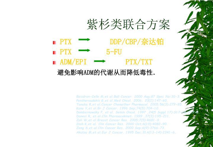 紫杉类联合方案