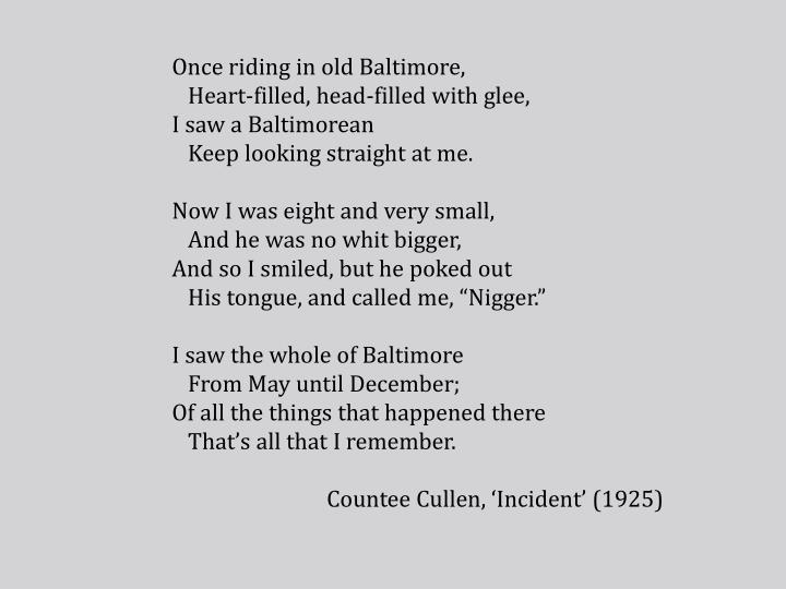 Once riding in old Baltimore,