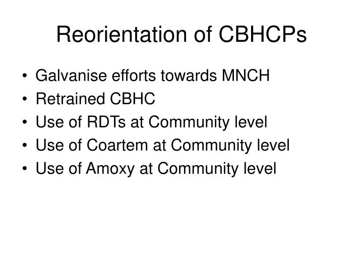 Reorientation of CBHCPs