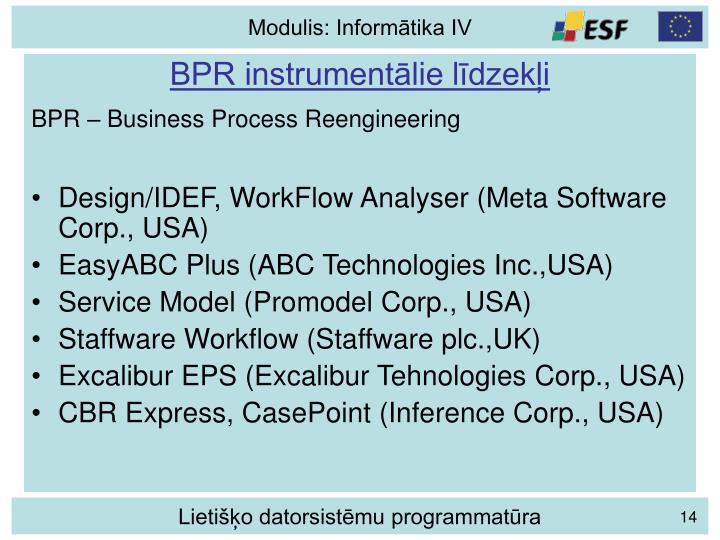 BPR instrumentālie līdzekļi
