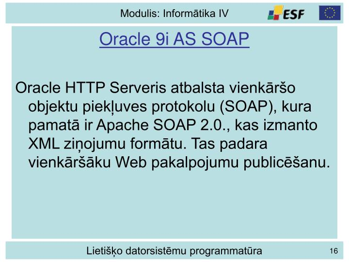 Oracle 9i AS SOAP