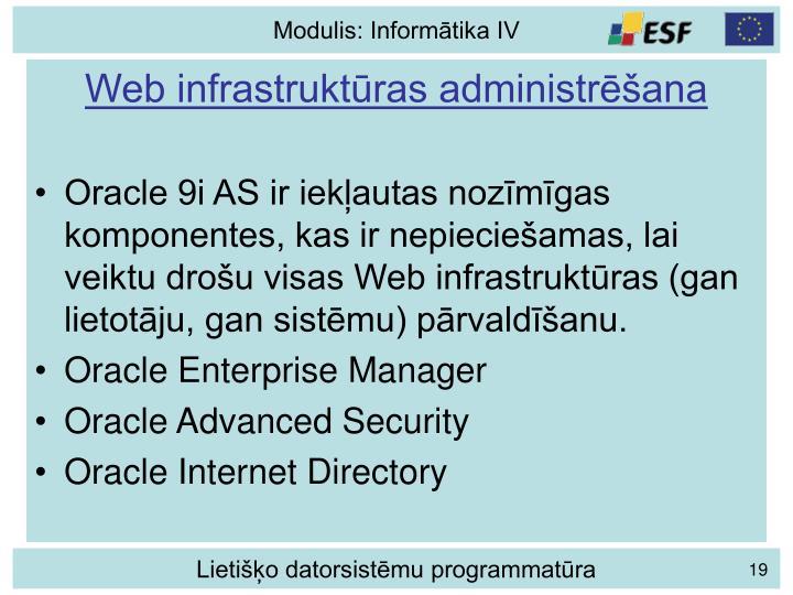 Web infrastruktūras administrēšana
