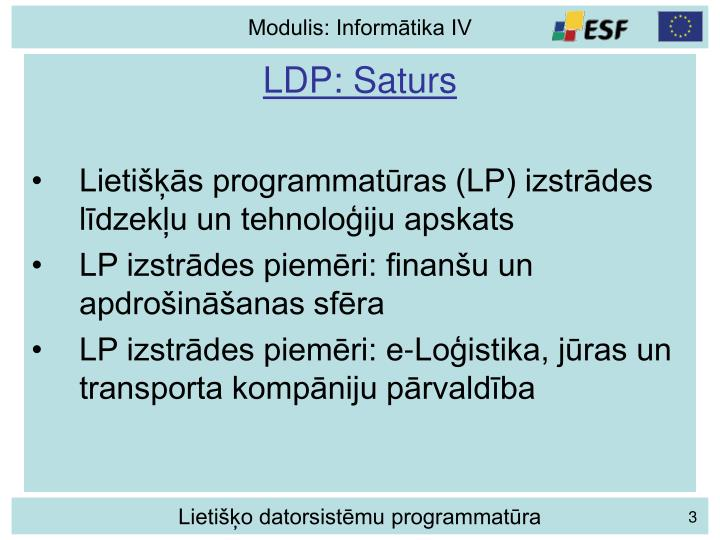 LDP: Saturs