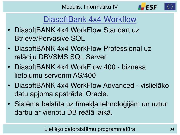 DiasoftBank 4x4 Workflow