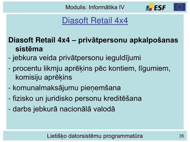 Diasoft Retail 4x4