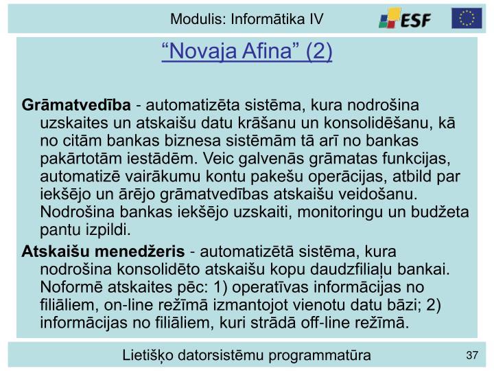 """""""Novaja Afina"""" (2)"""