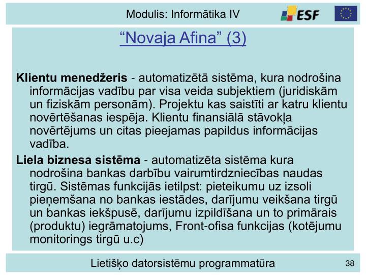 """""""Novaja Afina"""" (3)"""