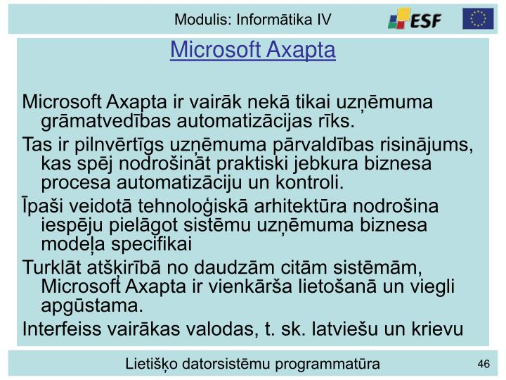 Microsoft Axapta