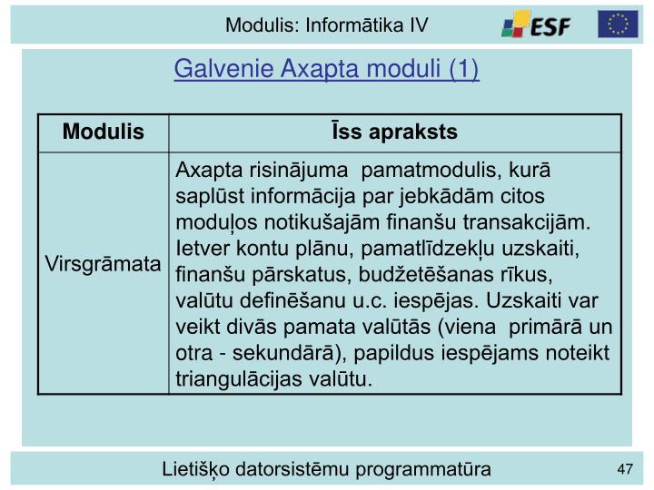 Galvenie Axapta moduli (1)