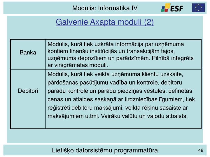 Galvenie Axapta moduli (2)