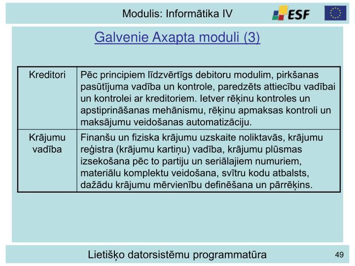 Galvenie Axapta moduli (3)