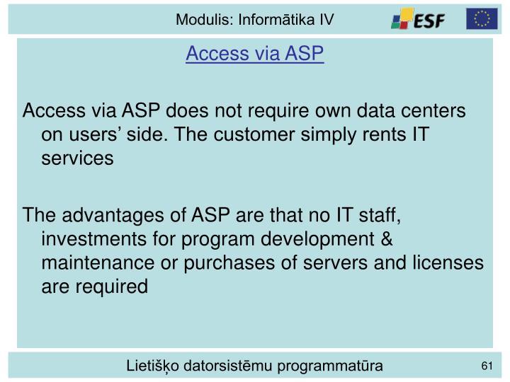 Access via ASP