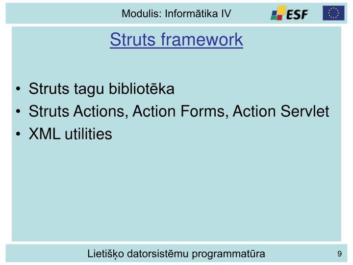 Struts framework
