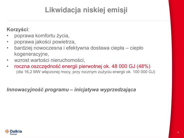 Likwidacja niskiej emisji