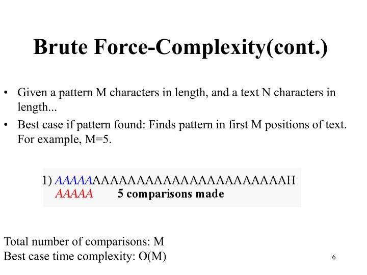 Brute Force-Complexity(cont.)