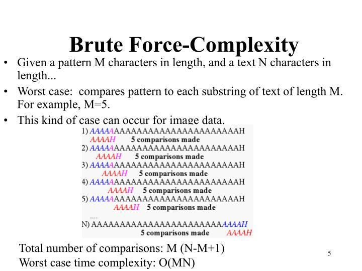 Brute Force-Complexity