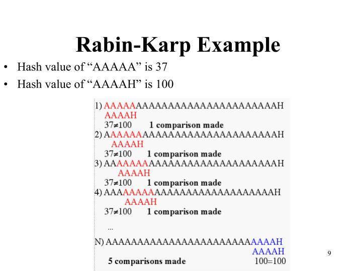 Rabin-Karp Example