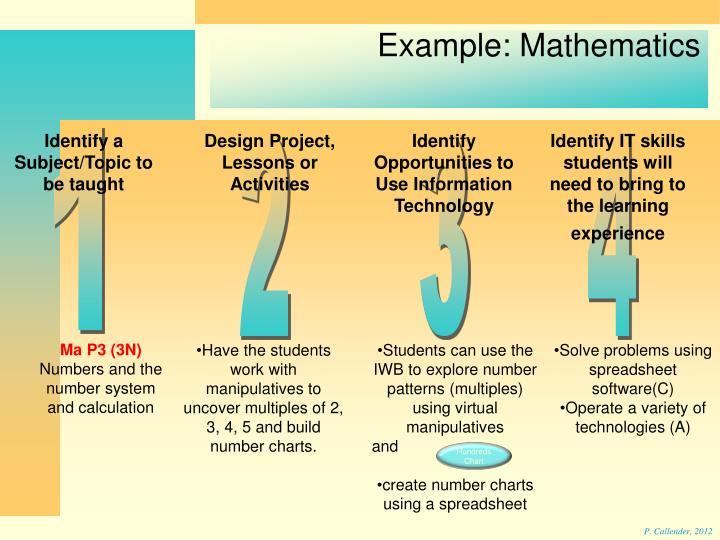 Example: Mathematics