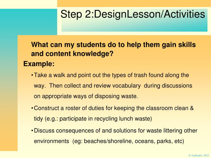 What can my students do to help them gain skills and content knowledge?