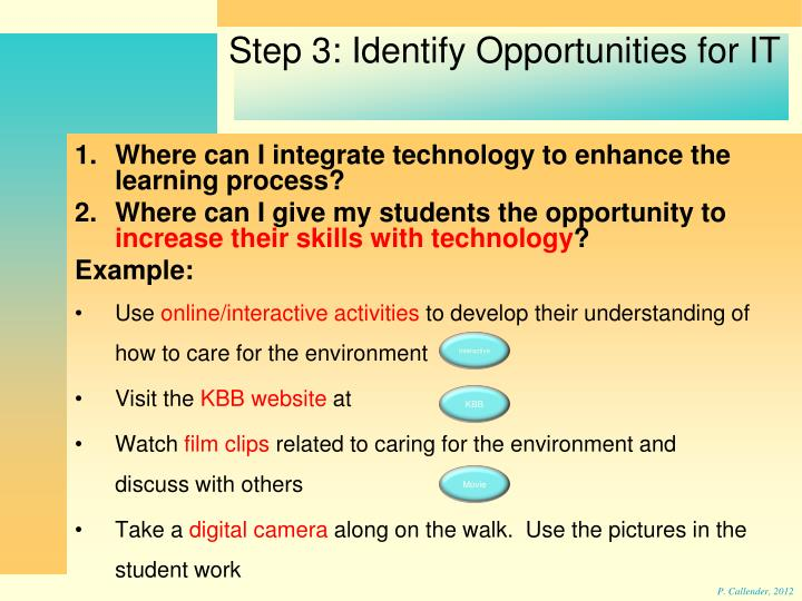 Where can I integrate technology to enhance the learning process?