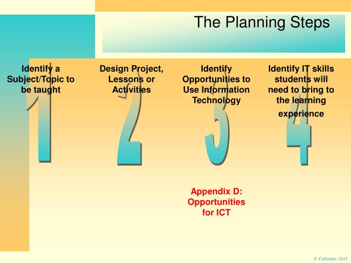 The Planning Steps