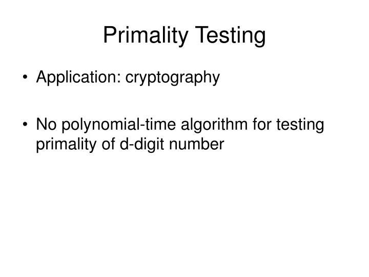 Primality Testing