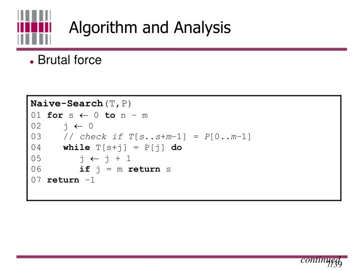 Algorithm and