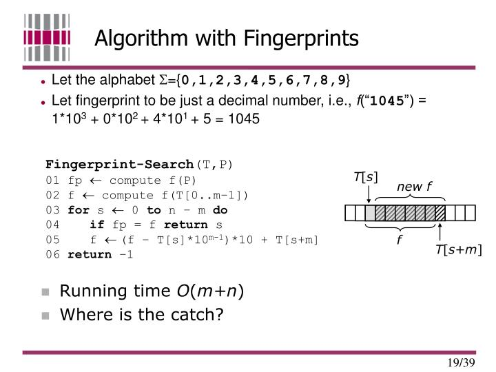Algorithm with Fingerprints