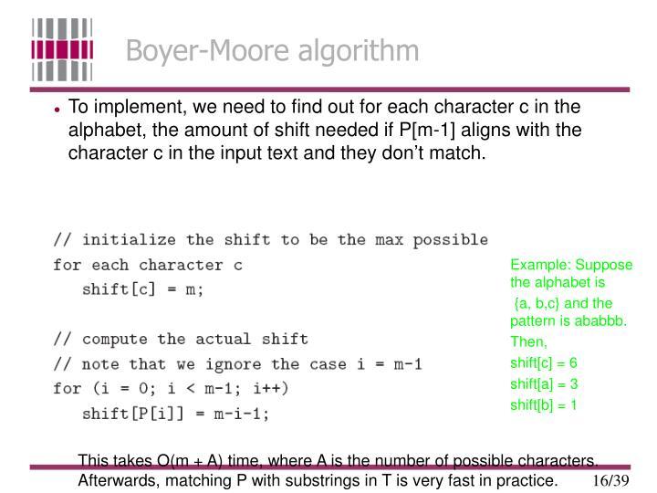 Boyer-Moore algorithm
