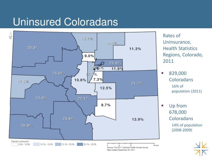 Uninsured Coloradans