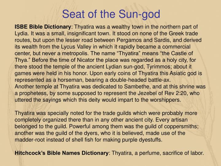 Seat of the Sun-god