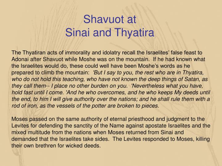 Shavuot at