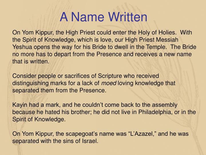 A Name Written