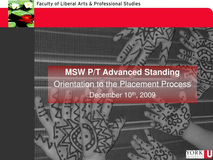 MSW P/T Advanced Standing