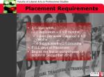 placement requirements1
